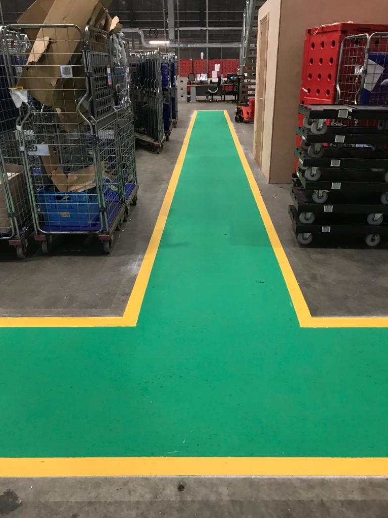 markings to warehouse floors