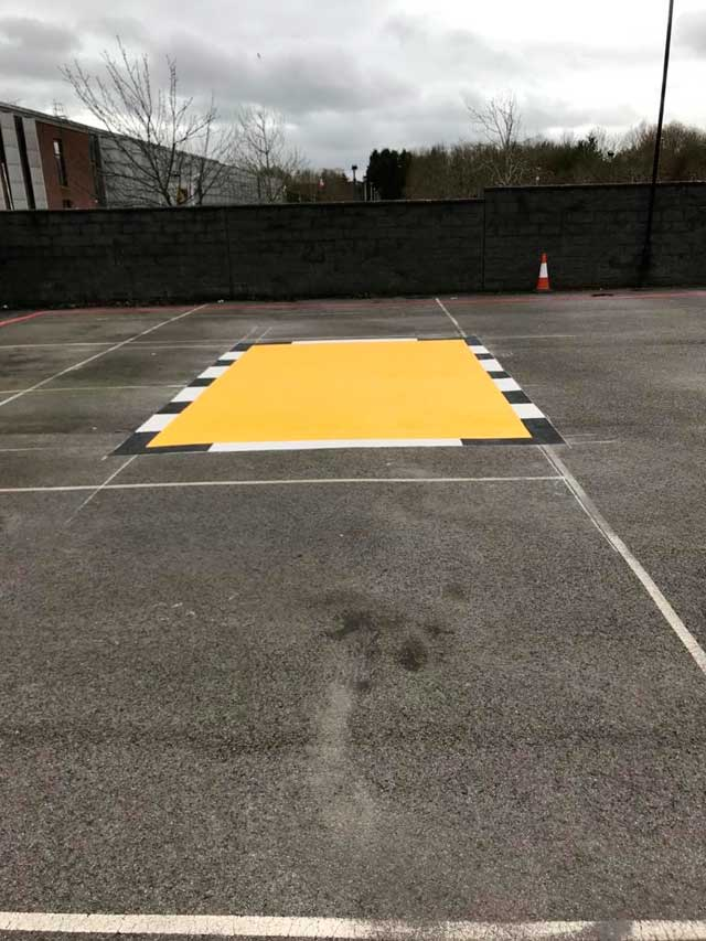 Road Marking Yellow Box