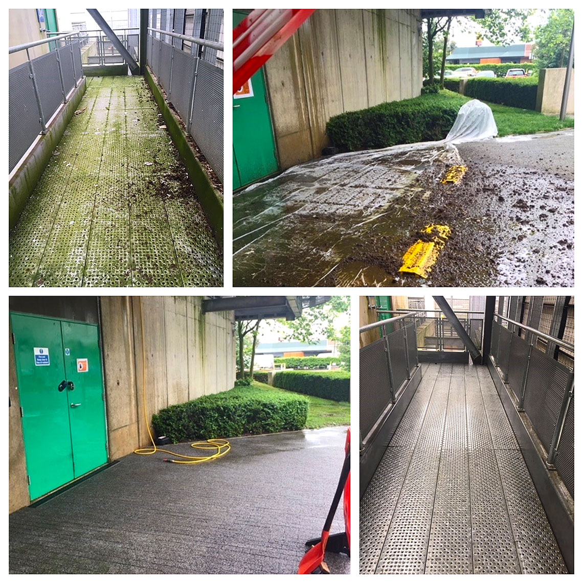 places after commercial jet washing services by AMS