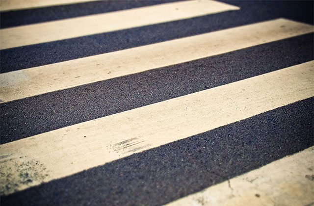zebra crossing line marking