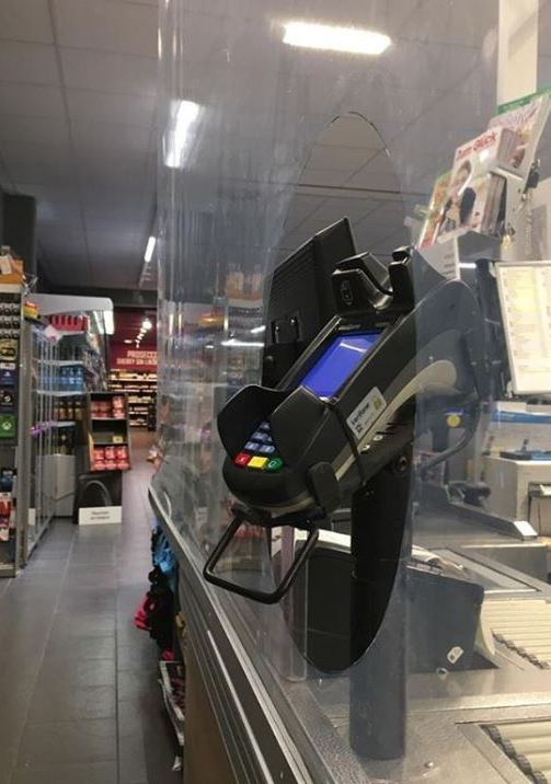 Cashier Sneeze Guards